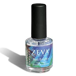 Zeva Nail Bright - One-Step French Manicure Nail Polish - .5 Fl Oz / 15 Ml (Satisfaction Guaranteed - Zeva products may be returned if not 100% satisfied. Thats easy!)