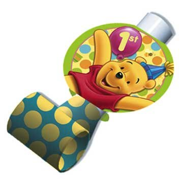 Pooh's 1st Birthday Blowouts 8ct