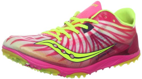 Saucony Women's Carrera XC Cross-Country Shoe,Pink/Citron,12 M US