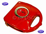 4 Slice Toasted Non Stick Sandwich Maker in Red BML35430