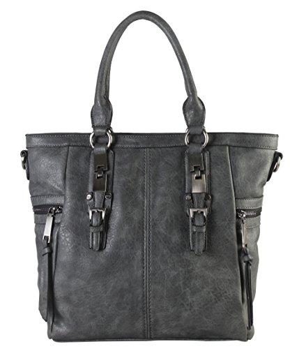 diophy-gun-metal-double-side-pockets-casual-tote-handbag-cz-3723-grey