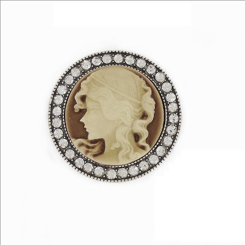 Round Shape Cameo Design Pin #032589