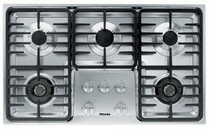 Miele : KM3475G 36 Stainless Steel Gas Cooktop