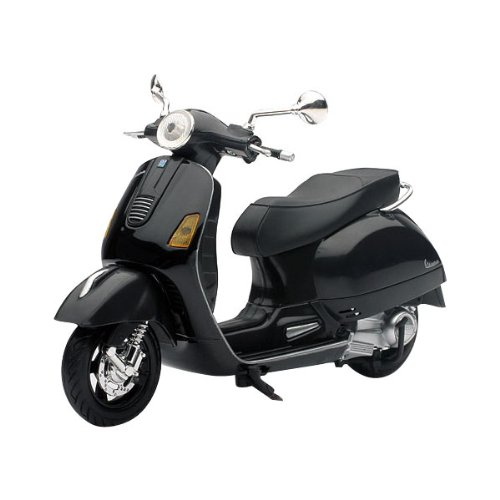 New Ray Vespa GTS 300 Super Replica Motorcycle Toy - Black / 1:12 Scale