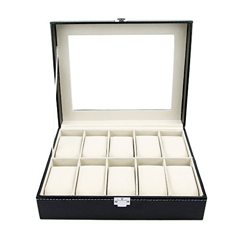 Watch Box - Large Luxury PU Leather Boxes for