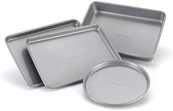 4-Piece Farberware Nonstick Bakeware Toaster Oven Set