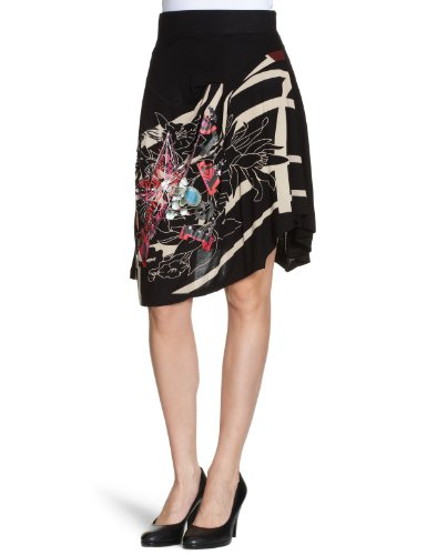 Desigual Villera Wrap Womens Skirt Black Size 8