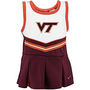 Nike Virginia Tech Hokies Girls 4-6x Cheerleader Set Girls 4