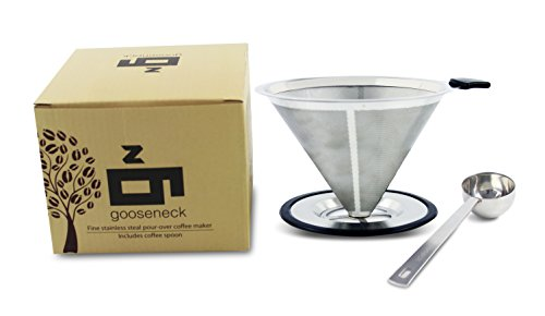 Pour-Over-Coffee-Maker-and-Brewer-FREE-HIGH-GRADE-STAINLESS-STEEL-SCOOPER-Permanent-Reusable-Stainless-Steel-Coffee-Filter-and-Brewer-with-Coffee-Pour-Over-Stand-2-cup