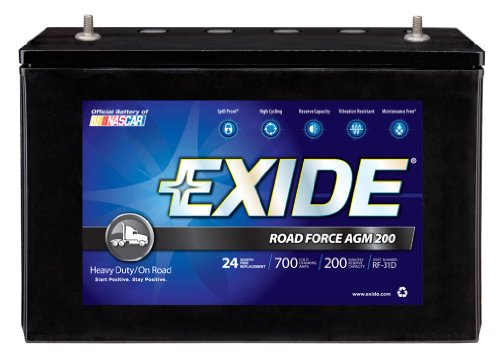 Exide RF-31D ROADFORCE AGM-200 Sealed Maintenance-Free (AGM) Heavy-Duty/Commercial Battery