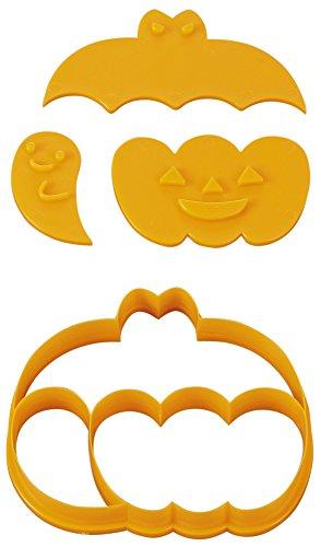 貝印 × COOKPAD 一度にたくさん抜けるかわいいクッキー型 コウモリ・カボチャ・おばけ DL-8001