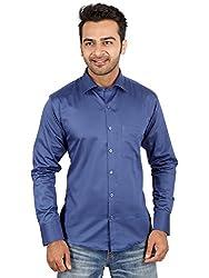 Regza Men's Formal Shirt (RZA_Navy Blue_42)