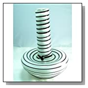 Murano Design Glass Huge Sneak Spiral Milke White Vase