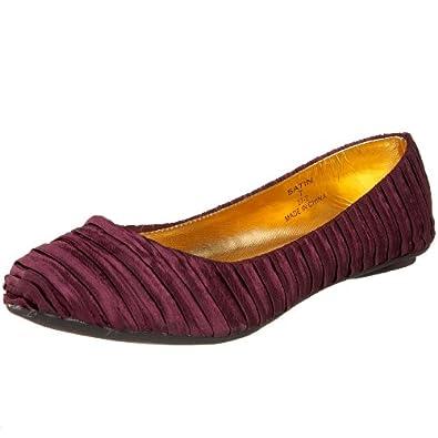 Nomad Footwear Women's Satin Ballet Flat,Purple,5 M US