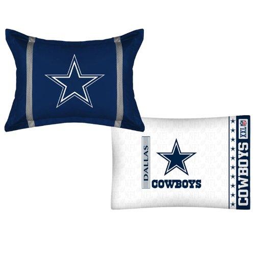 Nfl Dallas Cowboys Mvp Pillow Sham Pillowcase Set front-1060435