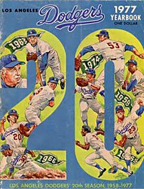 1977 Los Angeles Dodgers Yearbook - 20th Season