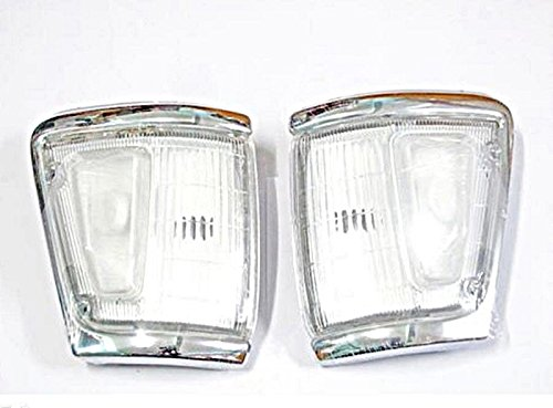88 - 97 89 91 95 Toyota Hilux Ln106 4wd 4x4 Pair Chrome Indicator Corner Light 90 Ln111 Clear Lenses (Toyota Hilux Ln166 compare prices)