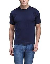 Scott Men's Basic Navy Blue Cotton Round Neck T-shirt