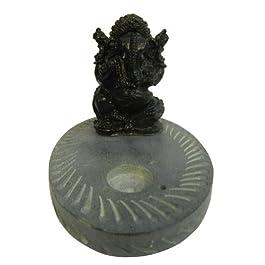 Porta incienso de esteatita Ganesha Incienso Titulares