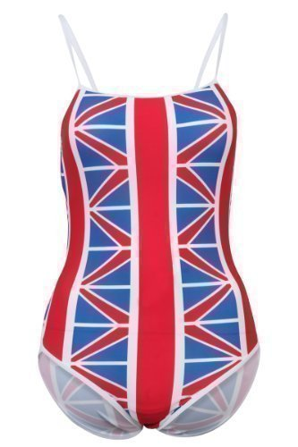new-gb-flag-union-jack-swimming-training-costume-ladies-swimsuit-size-med