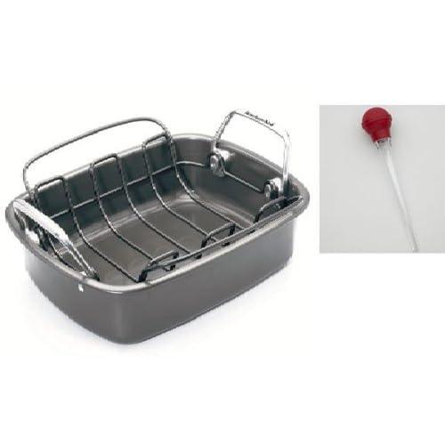 Amazon Com Kitchenaid Roasting Pan With Floating Flat