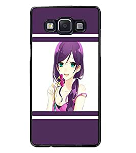 PrintDhaba Beautiful Girl D-1375 Back Case Cover for SAMSUNG GALAXY E5 (Multi-Coloured)