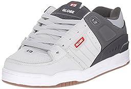 Globe Men\'s Fusion Skateboard Shoe, Grey/Charcoal/Red, 11.5 M US