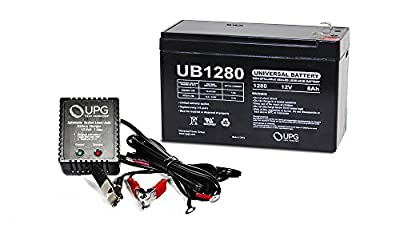 12V 8AH Replacement Battery for Garmin Fishfinder 90 GPS + 12v 1Amp Charger from UPG