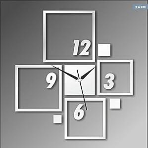X&L Mirror clocks wall clock solid wall decorations wallpaper DIY self adhesive wall clock , silver from xiaoliangs.com