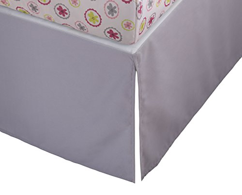 Find Discount Stork Craft Crib Skirt, Gray