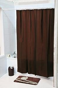 rideau de douche 180x 200 cm couleur chocolat 100 eva cuisine maison. Black Bedroom Furniture Sets. Home Design Ideas