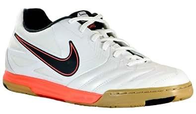 Nike 5 Lunar Gato IC Kids Soccer Shoe WHT 4.5