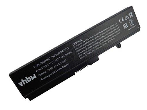 vhbw Li-Ion Batterie 6600mAh 10.8V pour ordinateur portable, Notebook Toshiba Satellite M308, M310, M311, M320, M321, M323, M325 comme PA3780U-1BRS.