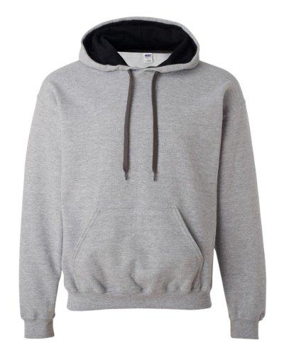 Gildan 185C00 Gd Adult 2Tone Hood Sweatshirt - Sport Grey/ Black - Xx-Large front-620796