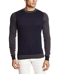 GAS Men's Cotton Blend Sweater (8059890675234_75805_Medium_194-Navy Blue)