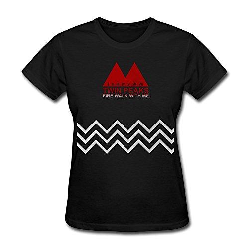 Sept Women's Twin Peaks Fire Walk With Me T-shirt Black (Twin Peaks T Shirt Womens compare prices)