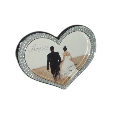Silver Plated Heart Shaped Photo Frame 5x5 inch