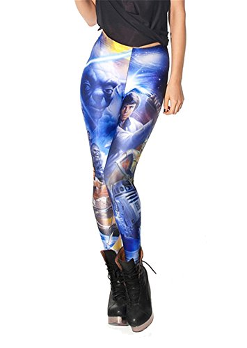 Women'S Fashion Digital Print Star Wars Pattern Sexy Leggings