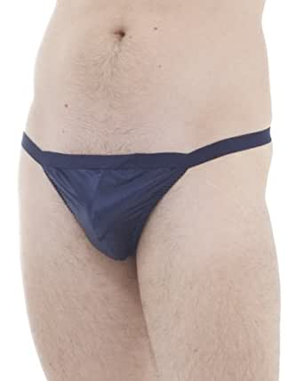 Satin silk G-string - size: S - colour: blueberry