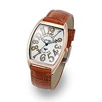 [ミッシェルジョルダン]michel Jurdain 腕時計 スポーツ ダイヤモンド レザー ブラウン/RGPシルバー SG1100-3 メンズ SG1100-3 メンズ