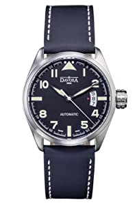 Davosa Military Men's Automatic Watch with Black Dial Analogue Display and Black Leather Strap 16151154