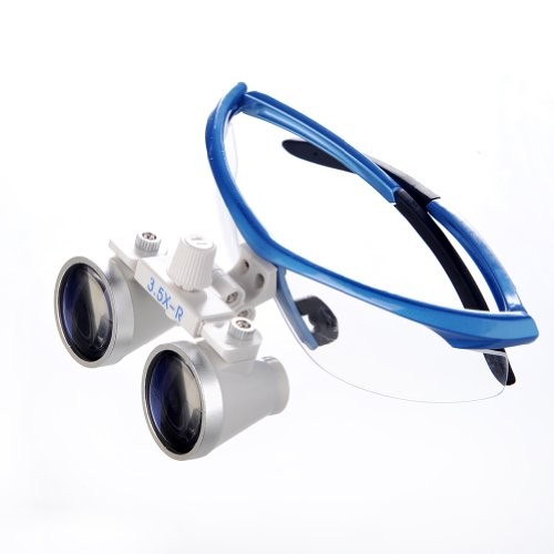 Easyinsmile Dental Loupes 3.5X 420Mm Medical Binocular Magnifier Loupes (Blue)
