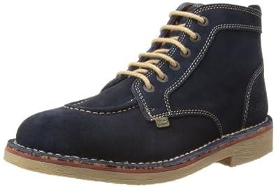 Kickers Mens Legendry B Desert Boots 112630 Dark Blue/Orange 6.5 UK, 40 EU