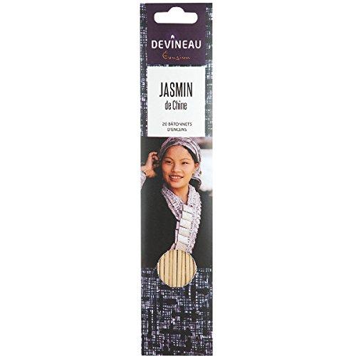 Devineau, Batonnets d'encens blanc parfum jasmin de chine, la boite de 20