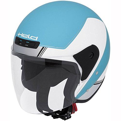 Motorcycle Held Demi-Jet Helmet Heros 7070 White Blue M UK