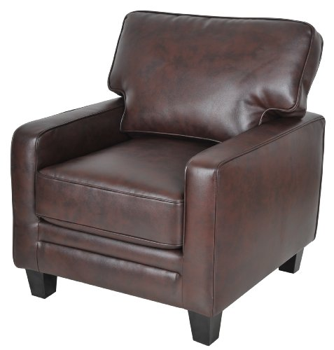 Serta Cr-44107 Monaco Collection Track Arm Accent Chair, Biscuit Brown