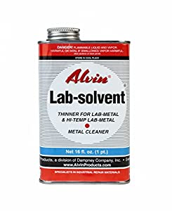 Alvin 16 oz Lab Solvent Thinner for Lab Metal & Hi Temp Lab Metal & Metal Cleaner