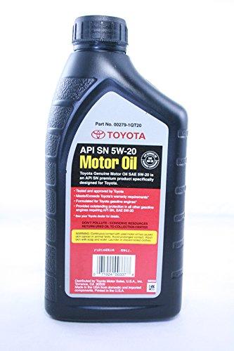 Toyota Genuine Sae 5w 20 946 Ml Motor Oil 1 Quart Pack Of