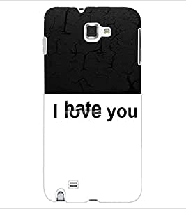 ColourCraft Love Hate Back Case Cover for SAMSUNG GALAXY NOTE 1