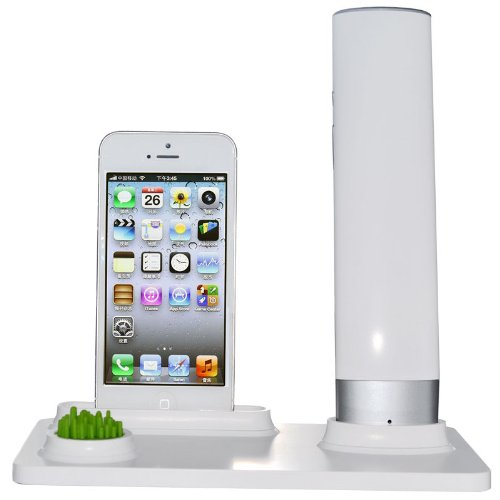 Anti-Radiation Cell Phone Portable Wireless Bluetooth Handset And Charging Dock Stand, Cordless Retro Handset, Works For Iphone 5 Iphone5S Iphone5C